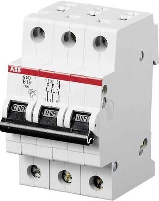 ABB Stotz S&J Sicherungsautomat B,6kA,16A,3P S203-B16