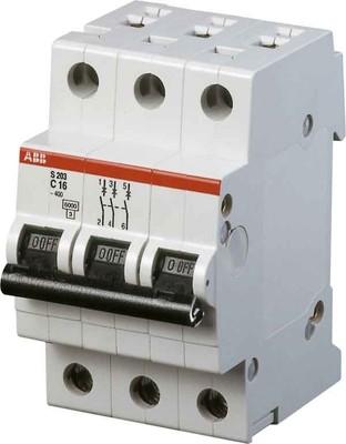 ABB Stotz S&J Sicherungsautomat 6kA 16A C 3p S203-C16