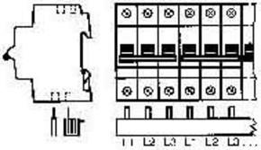 ABB Stotz S&J Sammelschiene 3p. 10qmm 60TE PS 3/60