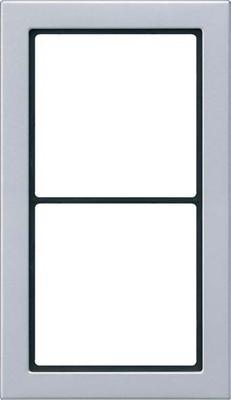 Jung Rahmen 2-fach aluminium waage/senkrecht FD AL 2982