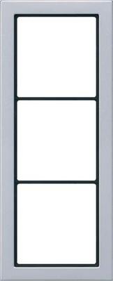 Jung Rahmen 3-fach aluminium waage/senkrecht FD AL 2983