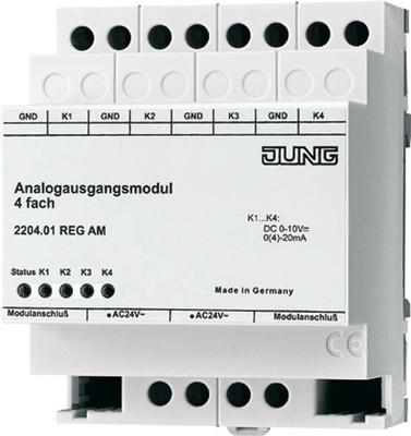 Jung Analogausgangsmodul 4-f. REG Gehäuse 4TE 2204.01 REG AM