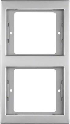 Berker Rahmen 2-fach edelstahl senkrecht 13237004