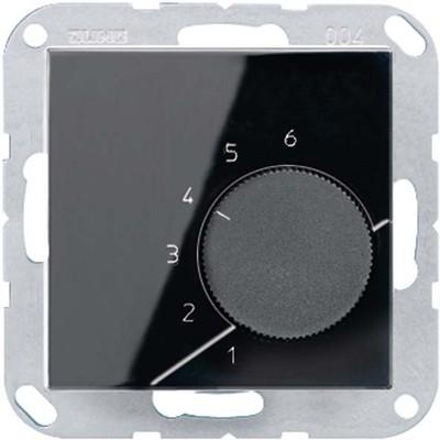 Jung Raumtemperaturregler schwarz 1-pol.Wechsl.AC230V TR A 236 SW