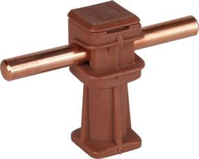 DEHN Leitungshalter braun H 36mm f. Rd 8mm M6 204 027