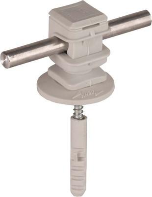 DEHN Leitungshalter grau H 16mm f. Rd 8mm 204 120