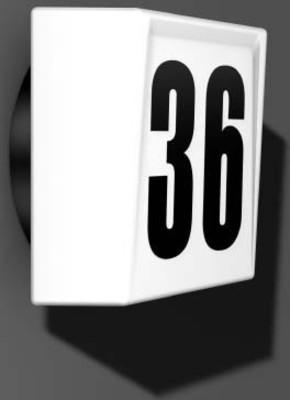 RZB Hausnummernleuchte sw-opal A60 60W 20124.003