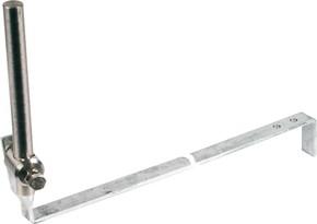 DEHN Stangenhalter m.Strebe L 475mm St/tZn 223 005