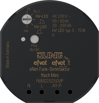 Jung eNet Funk-Dimmaktor 1-fach ch, Mini, UP FM UD 20250 UP