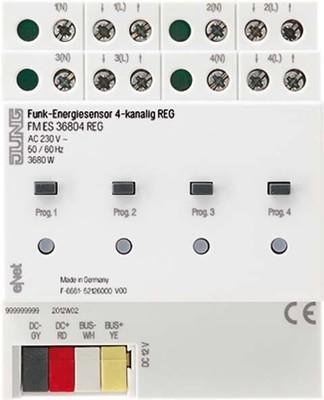Jung Funk-Energiesensor 4-kanalig, REG FM ES 36804 REG