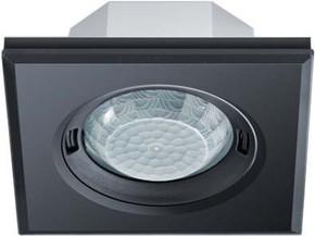 ESYLUX Design-Präsenzmelder quadratisch schwarz PD-FLAT360i/8SB DALI