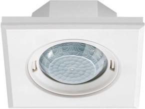 ESYLUX Design-Präsenzmelder quadratisch weiß PD-FLAT360i/8SW DALI