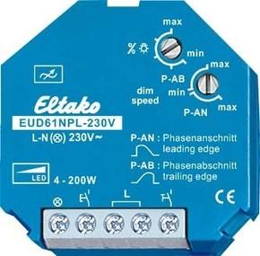 Eltako Universal-Dimmschalter Mindestlast nur 4W EUD61NPL-230V