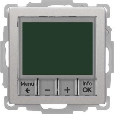 Berker Temperaturregler alu/lack Schließer+Zentralst. 20446084