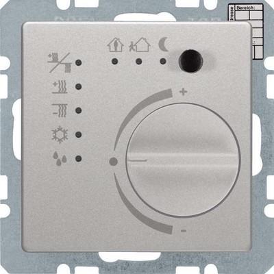 Berker Temperaturregler alu/lack m.Tast.schnittstelle 75441124
