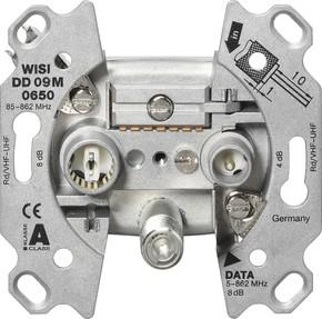 Wisi Multimedia-Enddose, 10 dB 3-Loch, Um,KDG zert. DD09M0650