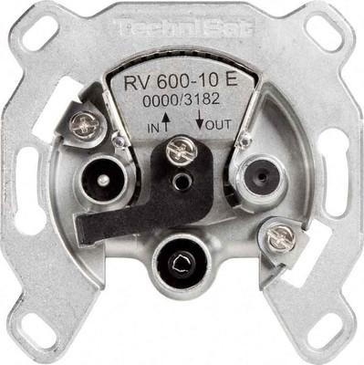 TechniSat SAT-Durchgangsdose integr. Elektronik RV600-10E