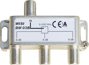 Wisi Verteiler 3-fach DM03B