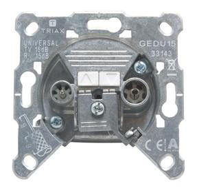 Triax Hirschmann Antennensteckdose 2-fach Durchgangsdose GEDU 15