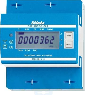 Eltako Drehstromzähler RS485-Bus-Funk DSZ14DRS-3x80A MID