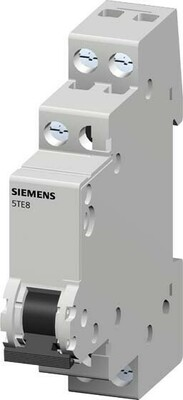 Siemens Indus.Sector Kontrollschalter T=70mm,20A 1S,1Lampe 5TE8101