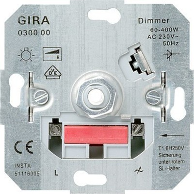 Gira LED-Dimmeinsatz 20-200W m.Dreh-Aus. 030000