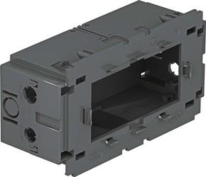 OBO Bettermann Vertr Geräteeinbaudose 2-fach ch 140x76x51mm gr 71GD13