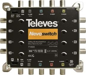 Televes Multischalter 5 in 8 Guß NEVO recpower kask. MS58C
