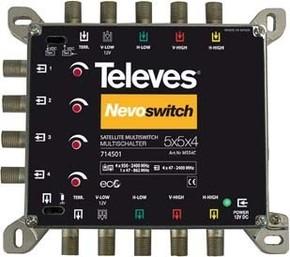 Televes (Preisner) Multischalter 5 in 4 Guß NEVO recpower kask. MS54C