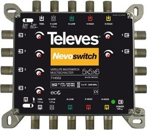 Televes (Preisner) Multischalter 5 in 6 Guß NEVO recpower kask. MS56C