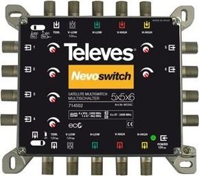 Televes Multischalter 5 in 6 Guß NEVO recpower kask. MS56C