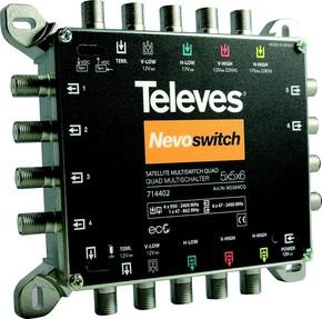 Televes (Preisner) Multischalter 5 in 6 Guß NEVO m.NT quad kask. MS56NCQ
