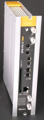 Televes (Preisner) T0X-TWIN-Umsetzer QPSK/PAL m.CI 2Prg. U2QP-CI-T