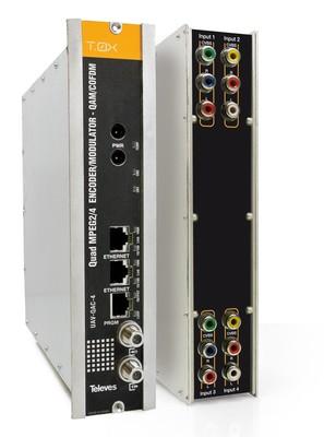 Televes (Preisner) T0X-QUAD-Modulator 4xAV in QAM/COFDM UAV-QAC-4