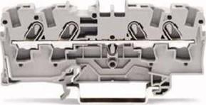 WAGO Kontakttechnik Durchgangsklemme 4-Leiter, TS 35 2004-1401