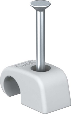 OBO Bettermann Vertr Haft-Clip m.Nagel 7-12mm L25 PP lichtgrau 2026 25 LGR