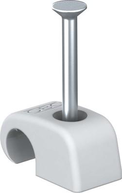 OBO Bettermann Haft-Clip m.Nagel 10-14mm L25 PP lichtgrau 2027 25 LGR