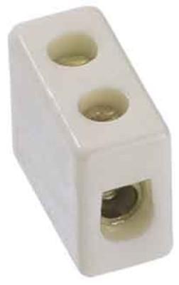 Bachmann Porzellanklemme weiß bis 2,50qmm, 1-polig 950.000