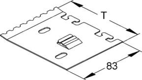 Niedax Trennstegbefestig.-platte B=99,Stahl S LZTP 100
