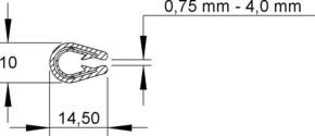 Niedax Kantenschutzband RKBA 10 E4