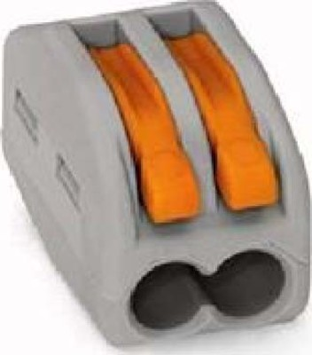 WAGO Kontakttechnik Verbindungsklemme 2x0,08-4qmm grau 222-412