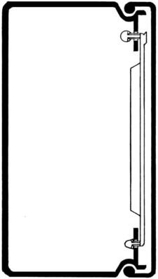 Rehau Elektro.Inst. LE Kanalunter/-oberteil 60/110 reinweiß LE 601100 rws