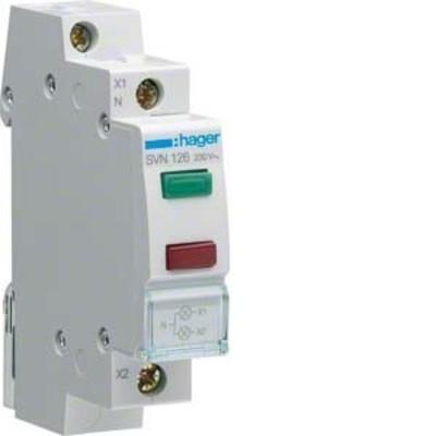 Hager LED-Leuchtmelder 2-fach ch grün und rot,230VAC SVN126