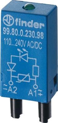 Finder LED gn +Varis110..220VACDC f.Fas. 94.82/83/84 99.80.0.230.98
