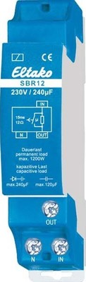 Eltako Strombegrenzungsrelais 1 Schließer 16A/250V SBR12-230V/240µF
