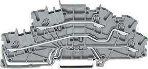 WAGO Kontakttechnik Installationsetagenklemme 4mm² grau L/L/PE 2003-6645