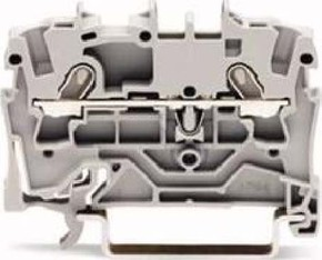 WAGO Kontakttechnik Durchgangsklemme 1,5qmm,grau,2-Leiter 2001-1201