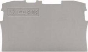 WAGO Kontakttechnik Abschluss-/Zwischenplatte grau 2002-1291