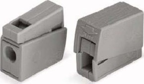 WAGO Kontakttechnik Leuchtenklemme 1,0-2,5mmq grau 224-101