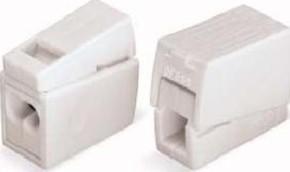 WAGO Kontakttechnik Leuchtenklemme 2x1,0-2,5mmq weiss 224-112